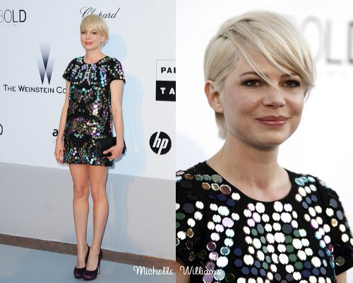 michelle williams short hair cannes. Michelle Williams is another