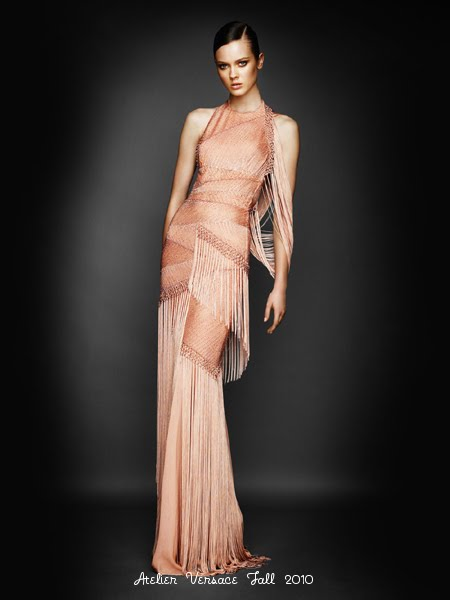 vestido noche versace:
