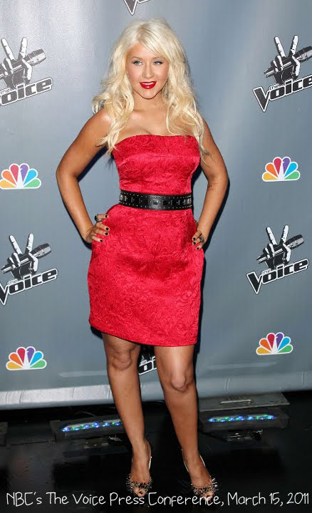 the voice christina aguilera outfit. When she attended the press