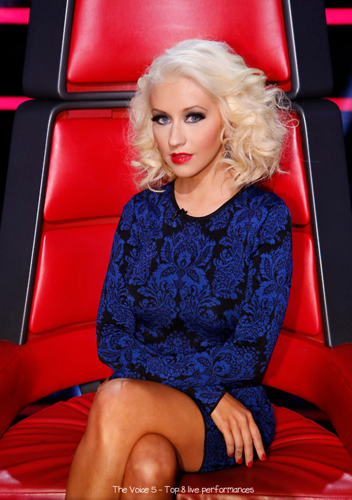 Christina Aguilera's Style: The Voice (Season 5) – Top 8 Live ...
